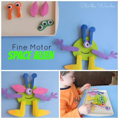 Fine Motor Space Alien