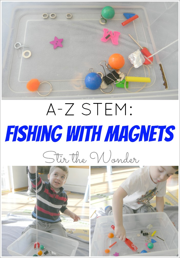 Fishing with Magnets, A-Z STEM Series at Stir the Wonder