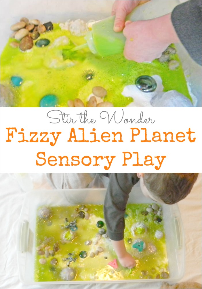 Fizzy Alien Planet Sensory Play