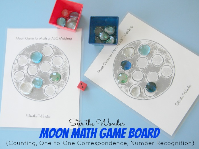 Moon Math Game Board 2
