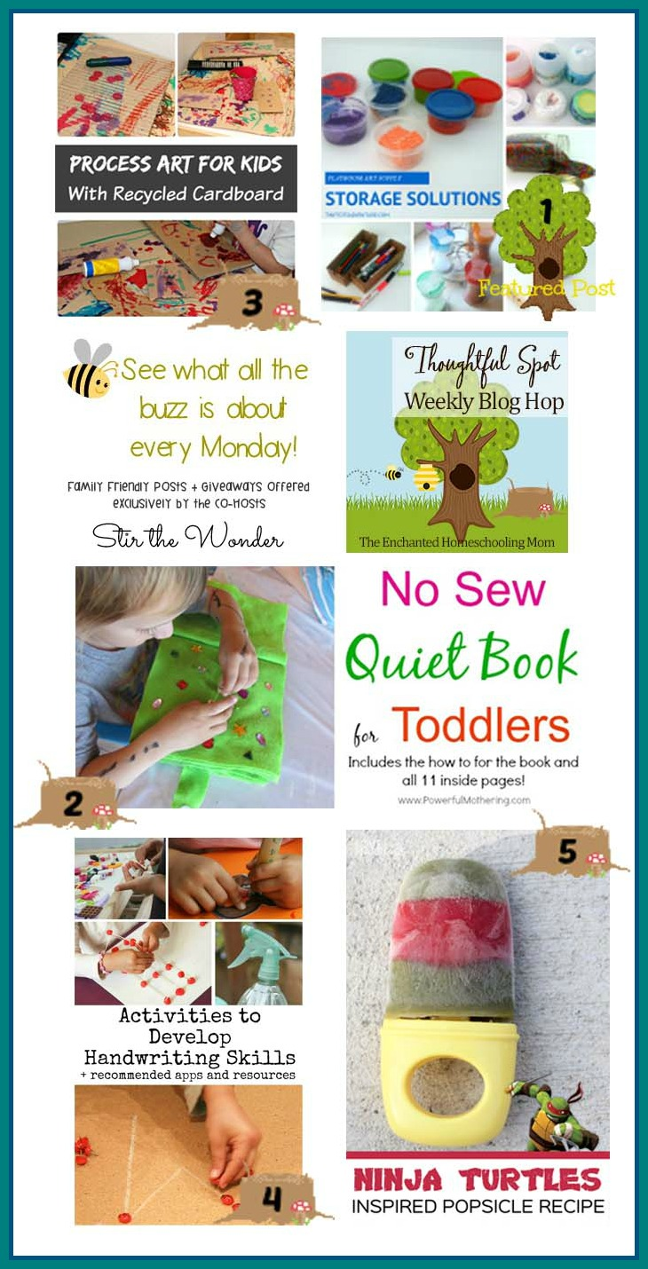 Thoughtful Spot Weekly Blog Hop #70, featuring posts from Tiny Tots Adventures, Powerful Mothering, Where Imagination Grows, In the Playroom & Love and Marriage Blog | Stir the Wonder