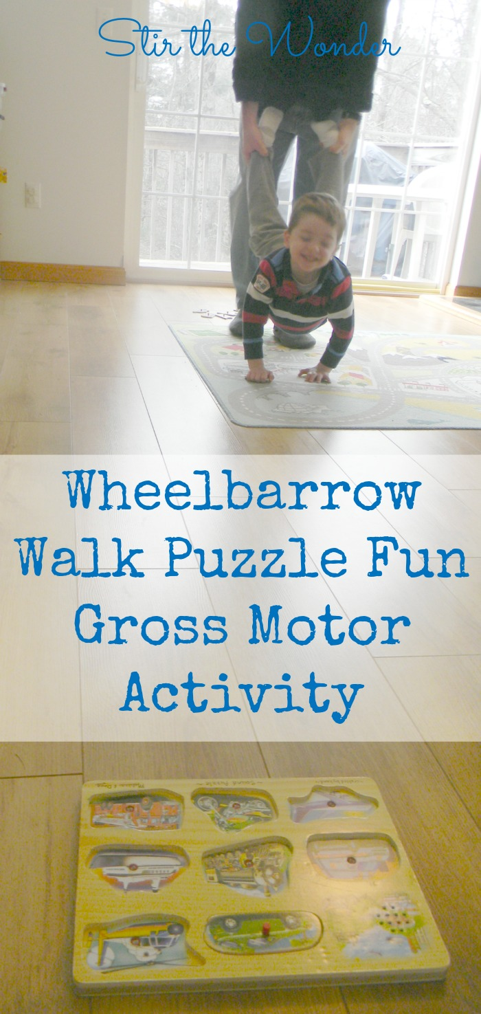 Wheelbarrow Walk Puzzle Fun Gross Motor Activity
