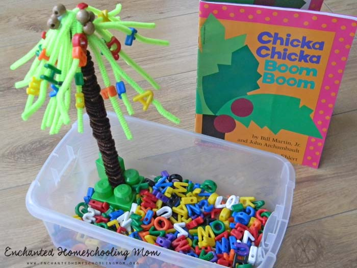 Chicka Chicka Boom Boom Sensory Bin Stir The Wonder