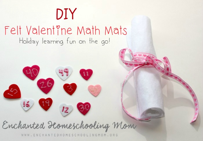DIY Felt Valentine Math Mats