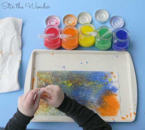 Liquid Watercolor Drip Painting