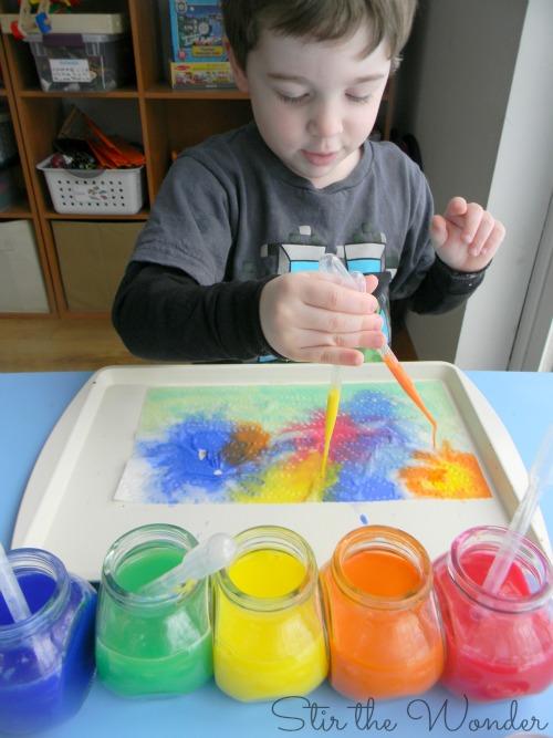 Liquid Watercolor Drip Painting | Stir the Wonder