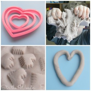 Grape Scented Play Dough and moulds for fine motor fun!