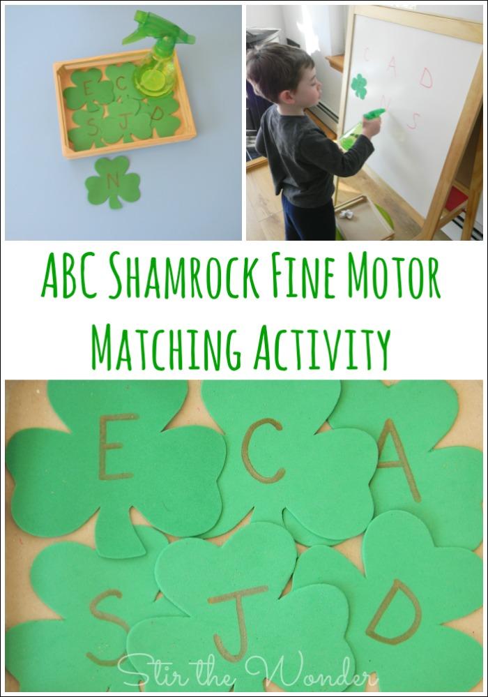 ABC Shamrock Fine Motor Activity