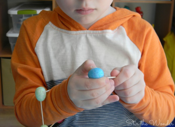 Easter Eggs & Toothpicks Fine Motor Sculptures | Stir the Wonder