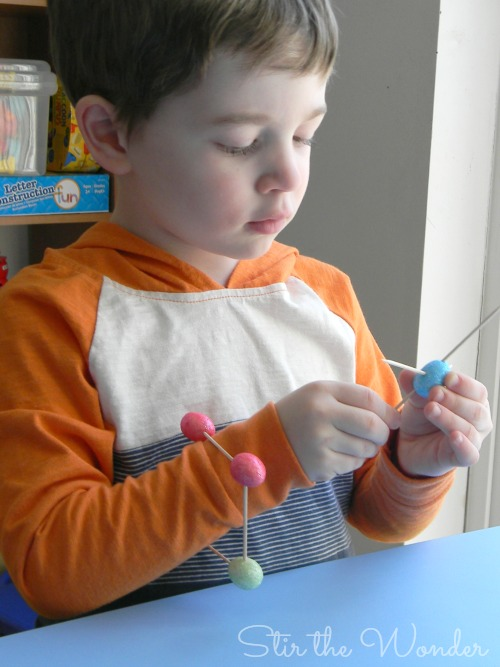 Easter Eggs & Toothpicks Fine Motor Sculptures