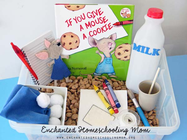 If You Give a Mouse a Cookie Sensory Bin | Stir the Wonder for Enchanted Homeschooling Mom