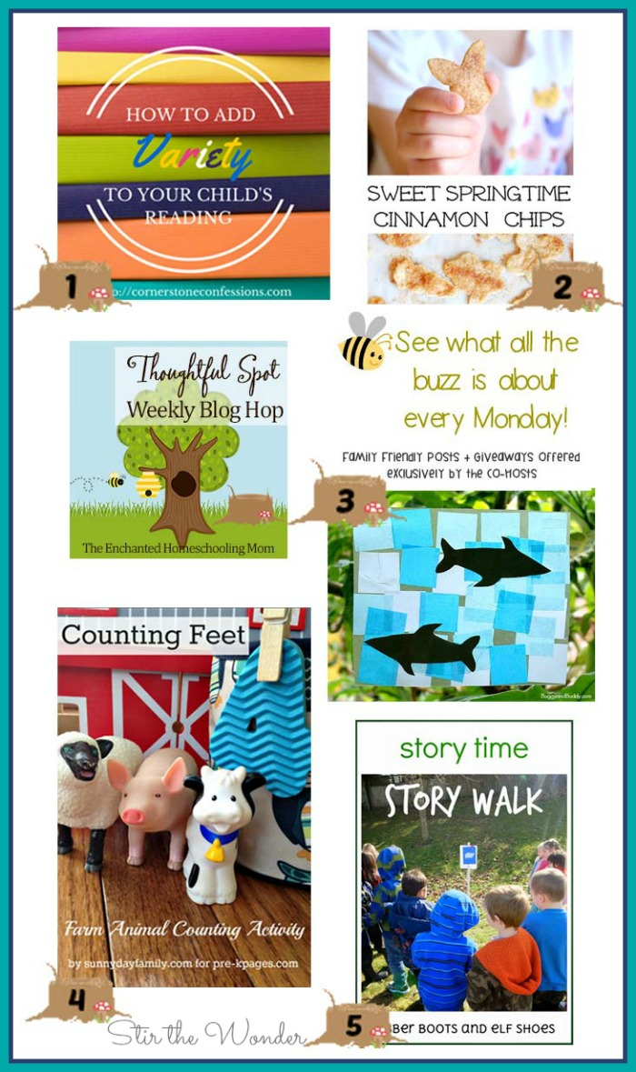 This week's Thoughtful Spot Weekly Blog Hop features posts from Cornerstone Confessions, Cutting Tiny Bites, Buggy and Buddy, Pre-K Pages and Rubberboots and Elf Shoes.