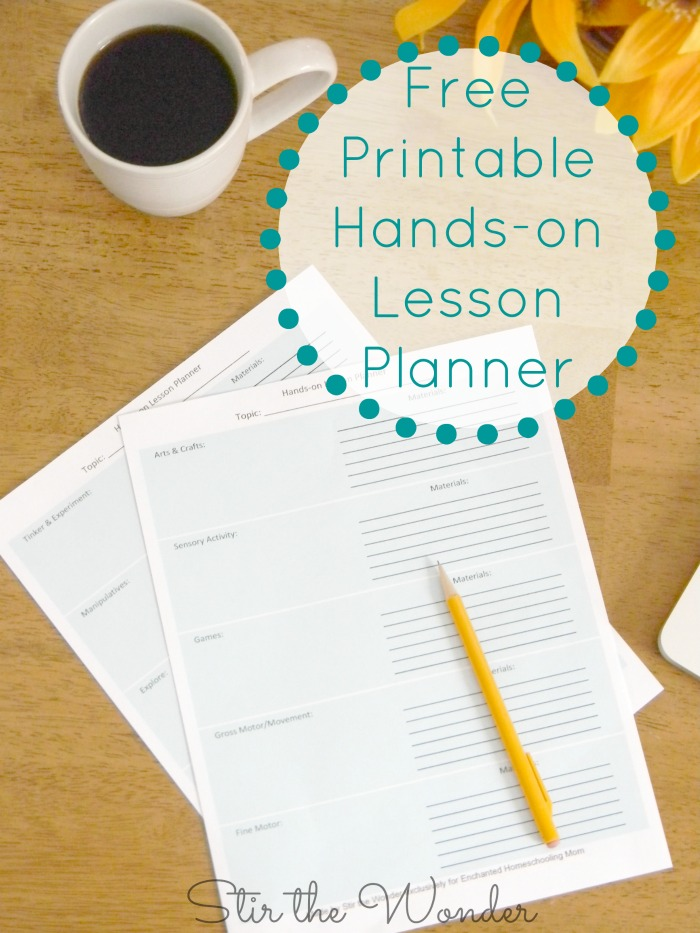 FREE Printable Hands-On Lesson Planner