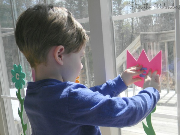 Spring Flowers Name and Fine Motor Activity
