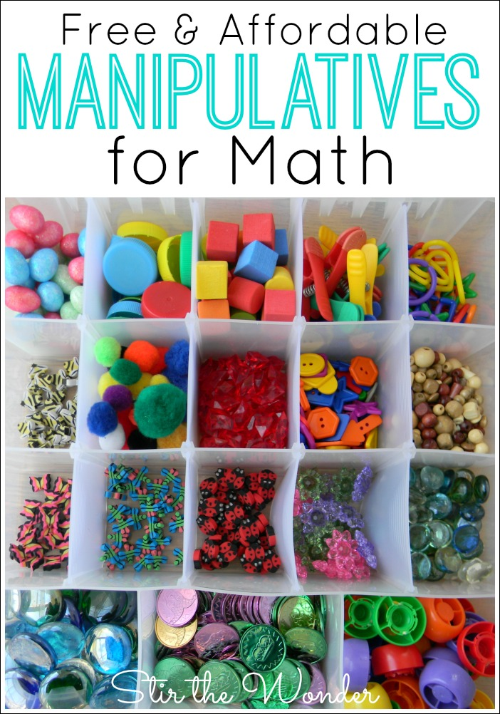 Free & Affordable Math Manipulatives | Stir The Wonder
