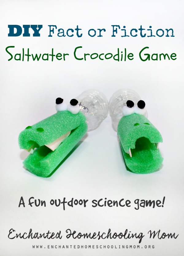 DIY Fact or Fiction Saltwater Crocodile Game from Enchanted Homeschooling Mom!