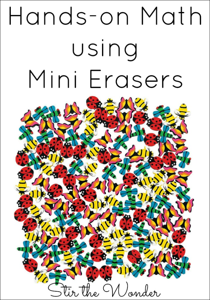 Hands-on Math using Mini Erasers