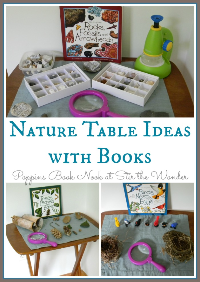 Including nature guides on a nature table is a great way to get young naturalists interested in reading!
