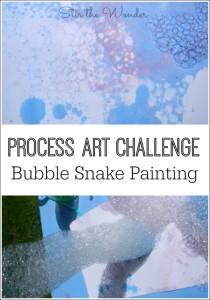 Bubble Snake Painting- a fun way to explore process art!
