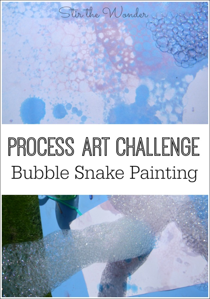 Bubble Snake Painting- a fun way to explore process art!