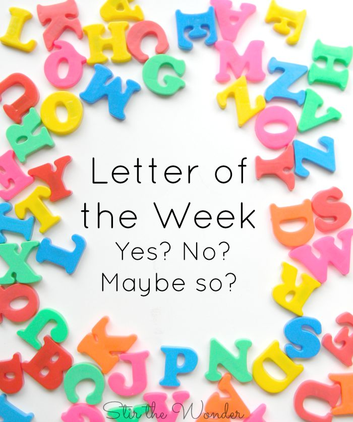 Letter of the Week- Yes? No? Maybe so?