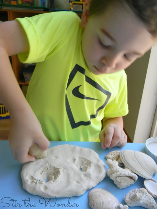 exploring texture with clay