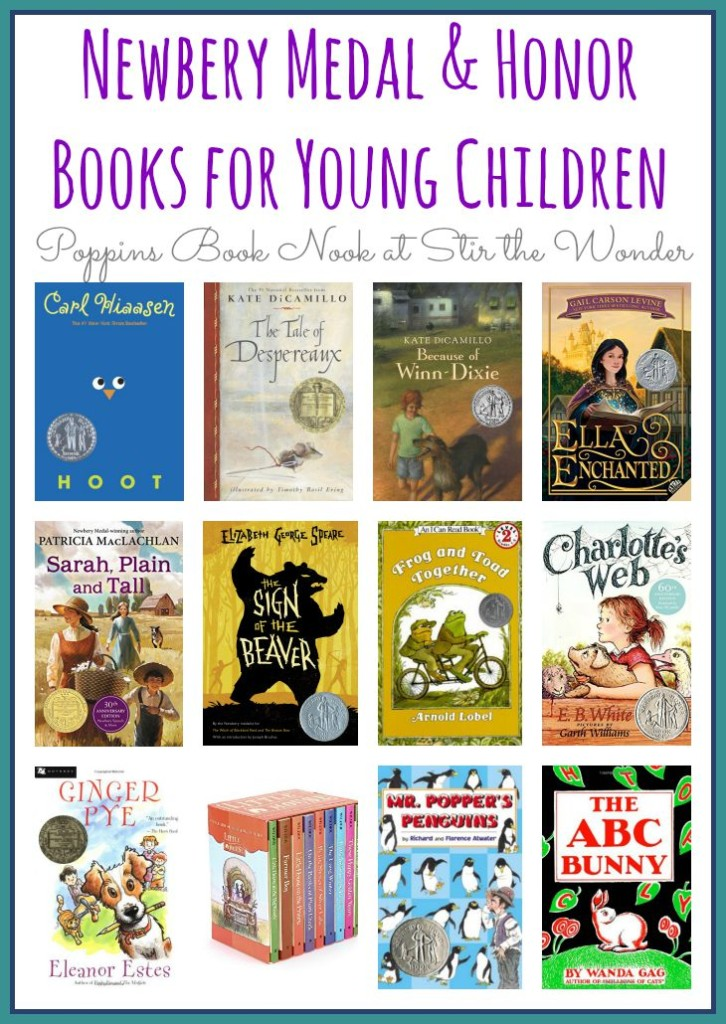 Newbery Medal and Honor Books for Young Children | Poppins Book Nook at Stir the Wonder