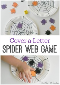 Cover a Letter Spider Web Game