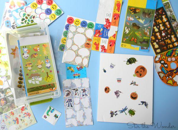 Sticker Collage Process Art Challenge