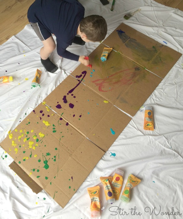 Jackson Pollock Inspired Process Art for Kids