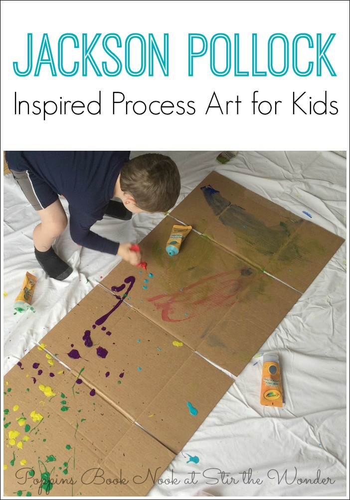 Jackson Pollock Inspired Process Art for Kids