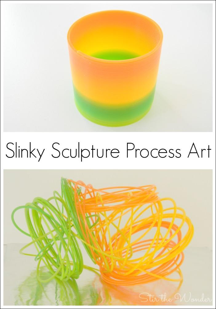 Slinky Sculpture Process Art