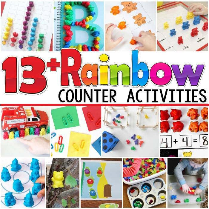 Hands-on learning with rainbow counters