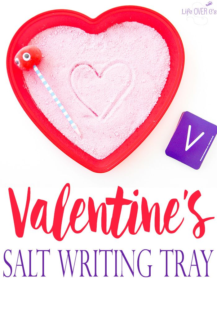Valentine's Salt Writing Tray