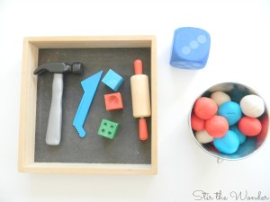 Count & Smash Play Dough Math Activity for Preschoolers