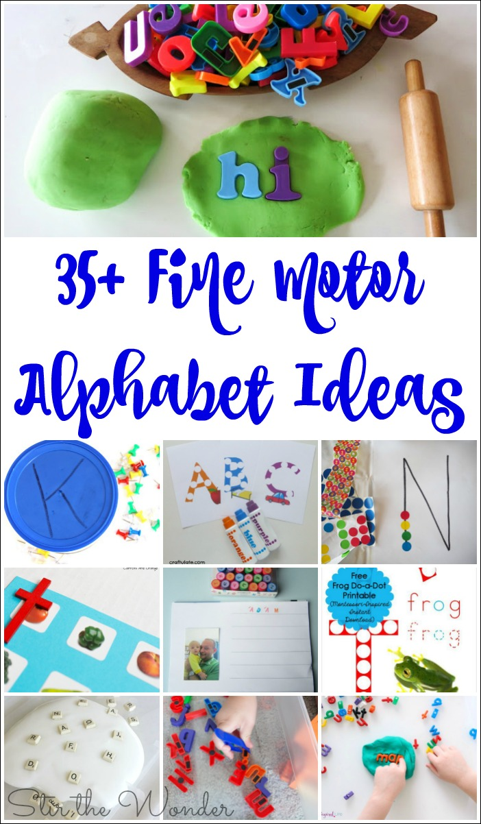 Fine Motor Alphabet Ideas