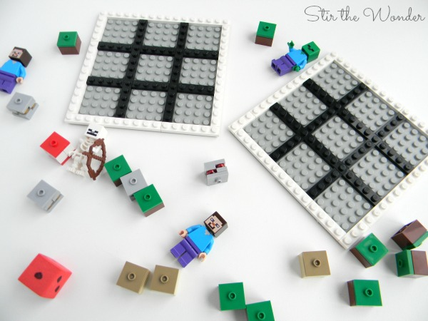 Minecraft LEGO Grid Game for Preschoolers