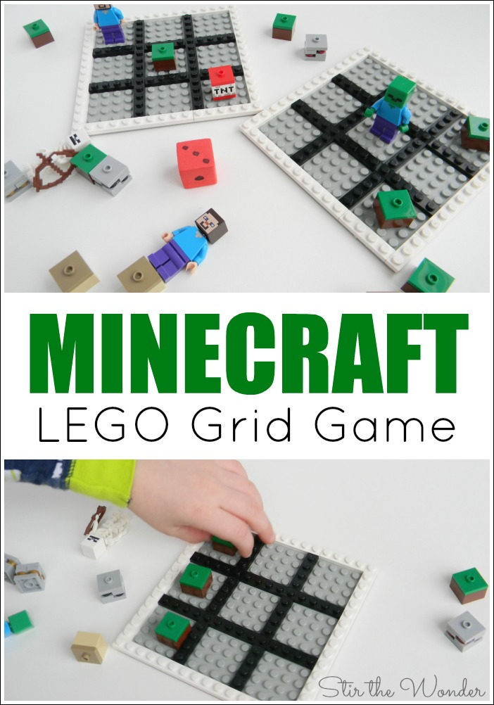 The Minecraft LEGO Grid Game is a fun, screen-free, hands-on way for young gamers to practice early math skills!