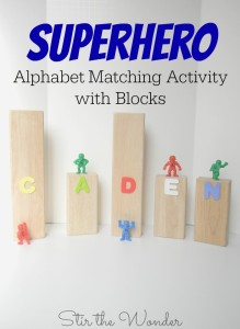 Superhero Alphabet Matching Activity