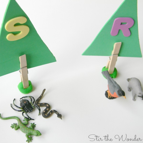 Forest Animals Letter Sounds Activity