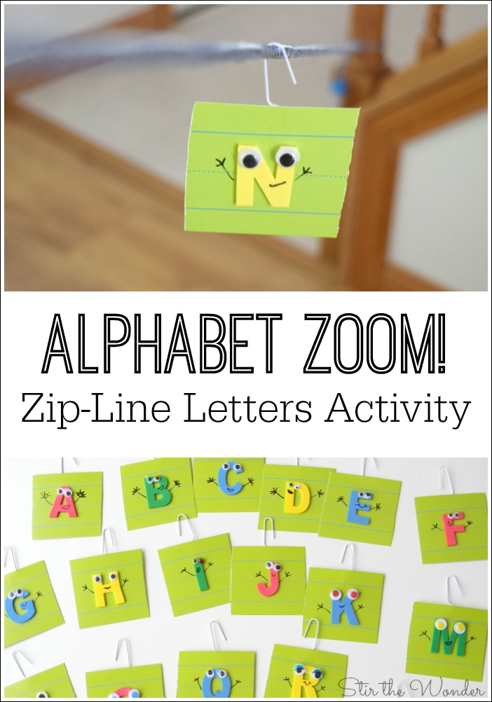 Alphabet Zoom Zip-Line Letters Activity