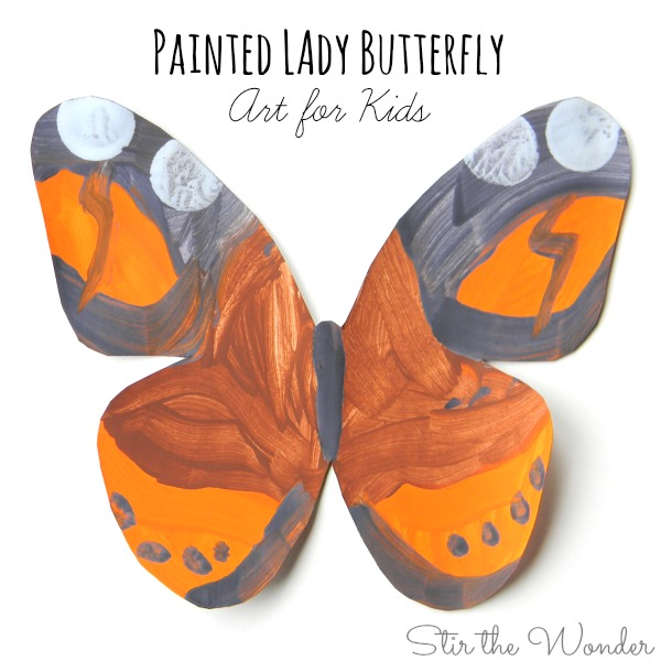 Painted Lady Butterfly Art for Kids