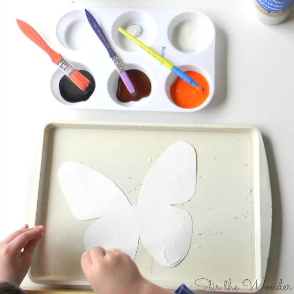 painted lady butterfly art supplies