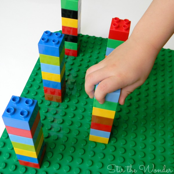 Building LEGO Duplo Ring Toss Game