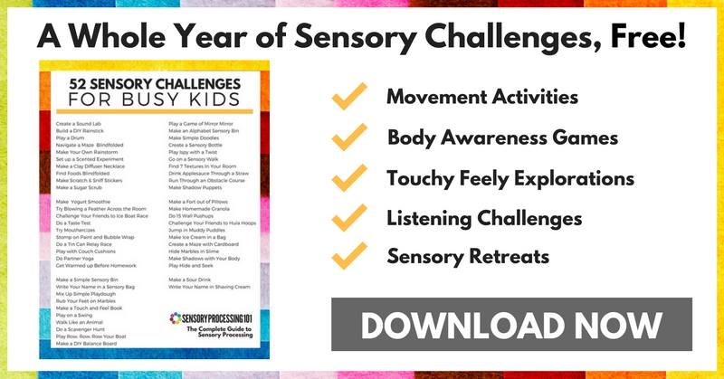 sensory processing activities