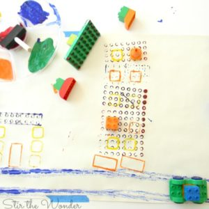 duplo stamp painting