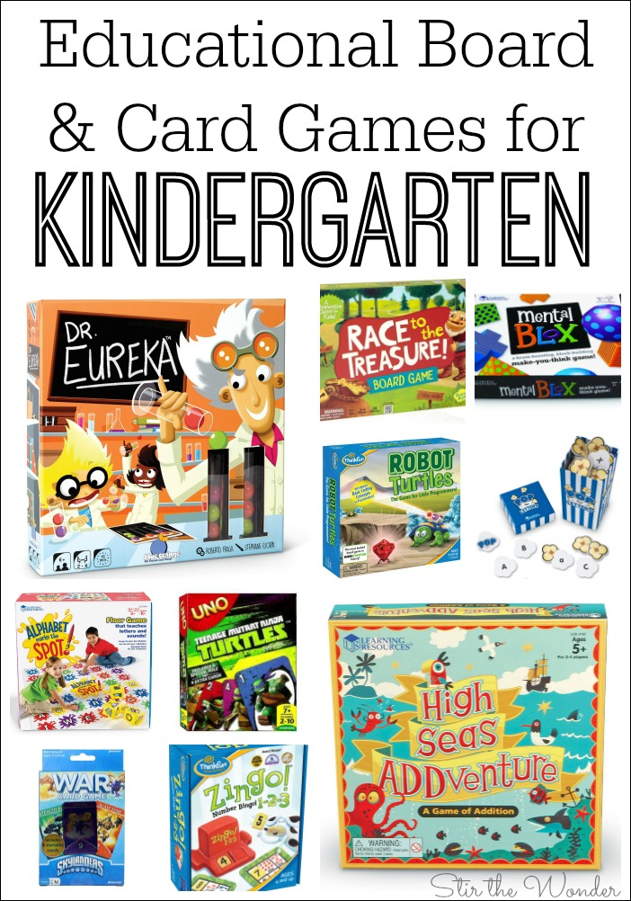 Educational Board and Card Games for Kindergarten