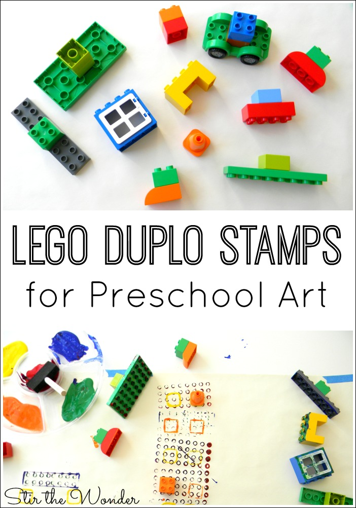 LEGO Duplo Stamps are easy to make and a fun way for toddlers and preschoolers to create art!