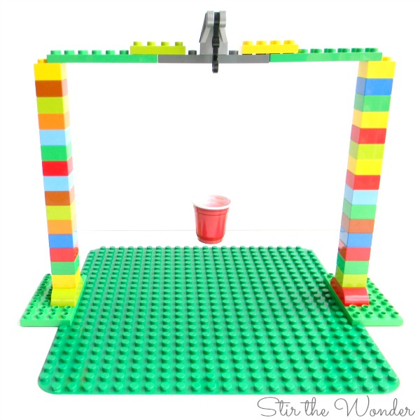 LEGO Duplo Pendulum Painting STEAM activity