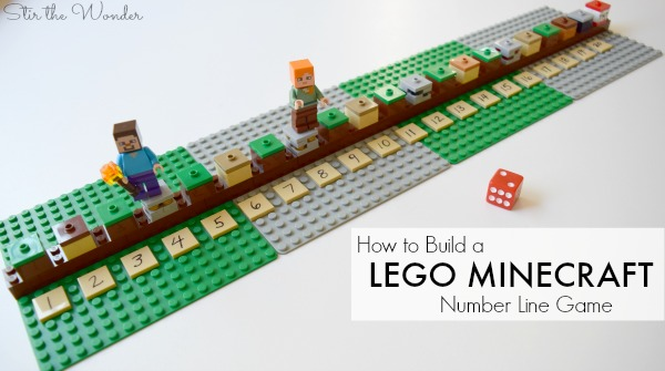 How to Build a LEGO Minecraft Number Line Math Game for Kids